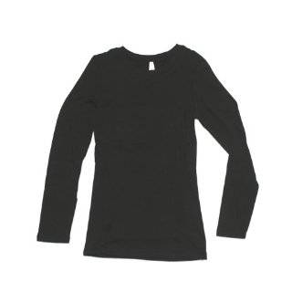 Ladies White Plain Long Sleeve T Shirt Crew Neck Clothing