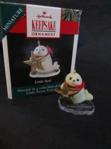 Hallmark 1990 Little Seal Frosty Friends Christmas Ornament In Box
