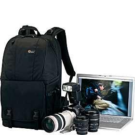 Fastpack 350 Camera/Laptop Backpack Black
