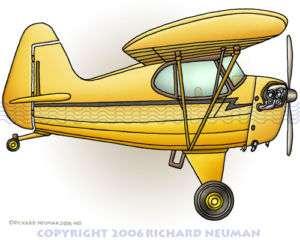 485 Airplane Piper Cub Print Kids Wall Decor Aircraft