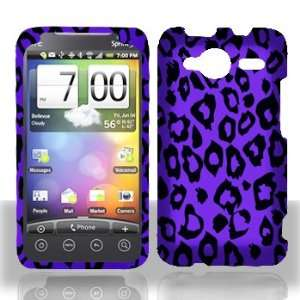 HTC EVO Shift 4G Purple/Black Leopard Hard Case Snap on