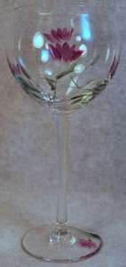 LENOX CRYSTAL FLORAL SPIRIT BALLOON WINE GLASS GOBLET P