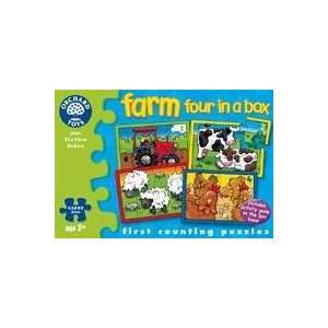 com The Original Toy Company Farm Four in a Box Puzzle Toys & Games