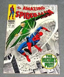 AMAZING SPIDER MAN #64 Marvel Comics Silver 1968 NM/NM+