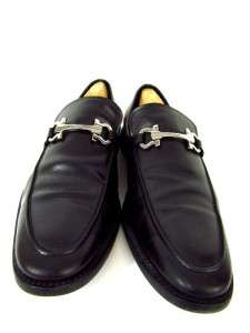 SALVATORE FERRAGAMO slip ons leather dress shoes loafers ITALY 12 D M