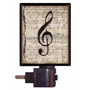 Music Night Light   Musical Clef Note