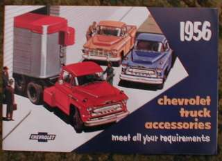 1956 Chevrolet Trucks Accessories Sales Brochure 56