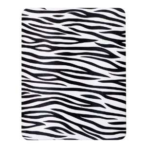 com Black/White Zebra Skin Case (Covers Front & Back) for Apple iPad