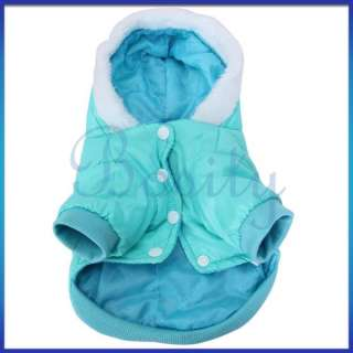 Puppy Pet Dog Hoodie Hooded Winter Coat Jacket Nylon taffeta Warm