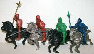 1950s LIDO KNIGHTS MEDIEVAL PLAYSET ARMORED HORSES