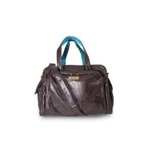 Ju Ju Be   Be Prepared Earth Leather Diaper Bag   Brown/Teal Baby