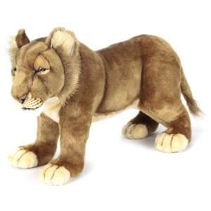 Hansa Life Size Lion Cub Stuffed Plush Animal, Standing