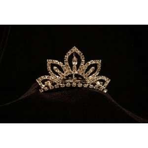 Princess Simulated Diamond Crown Tiara Comb   Versatile