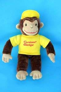 Curious George Yellow Hat Shirt Plush Monkey Stuffed Animal 16 inch