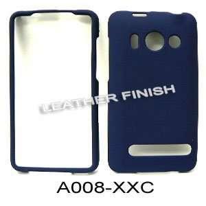 HTC EVO 4G ( Sprint ) Honey Navy Blue Leather Finish   HARD PROTECTOR