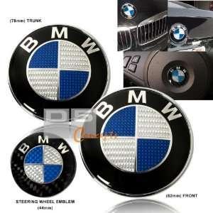 97 03 BMW E39 Hood/Trunk/Steering Wheel Emblem   Blue/Real