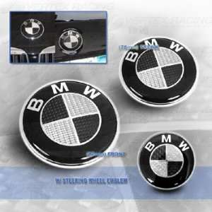 BMW Carbon Fiber Hood Trunk Roundel Steering Wheel Emblem