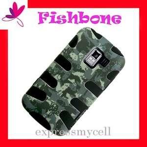 CAMOUFLAGE FISHBONE Impact Hybrid Case Cover 4 NET 10 Straight Talk LG