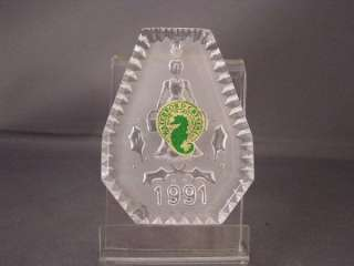 WATERFORD CRYSTAL 12 DAYS CHRISTMAS ORNAMENT 1991