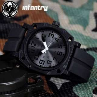 Soldiers Mens INFANTRY Rubber Army Sports Analog Quartz Wrist Watch