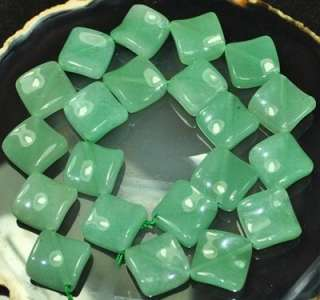 20mm Natrual Wave Square Gemstone Beads 8