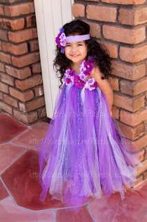 flower girl Tutu Dress birthday party wedding photograph CUSTOM ORDER