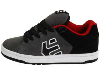 KIDS WRAITH RED/ BLACK GREY SUEDE BLACK NUBUCK SKATE SHOES