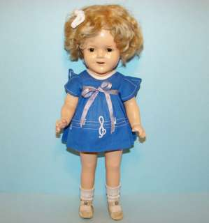 Ideal Shirley Temple Compo Doll Our Little Girl Dress NRA Tag