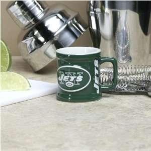 New York Jets Green 2 oz. Sculpted Team Shot Mug Sports