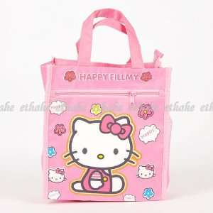Hello Kitty Figure Hand Bag Shopping Tote Pink Baby