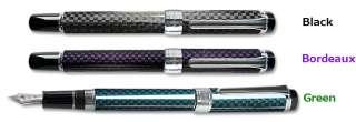 Four Colors Carbon Fiber Fountain pen Black Bordeaux Green