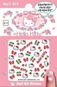Sanrio Hello Kitty lady accessory nail Art Sticker (cherry & bow