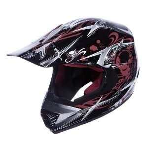 Motorcycle Helmet Off Road Full Face Youth Black Helmet