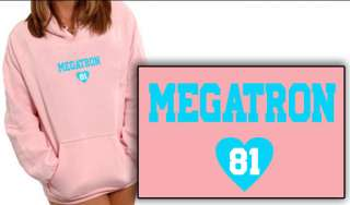 CALVIN heart Megatron JOHNSON womens HOODIE SWEATSHIRT Detroit Lions