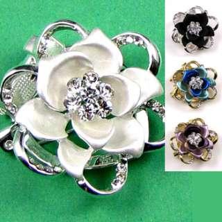 ADDL Item  Austrian rhinestone flower brooch pin scarf