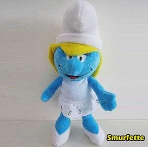 The Smurfs Plush Toy Smurfette Pretty Girl Smurf Soft Doll Stuffed