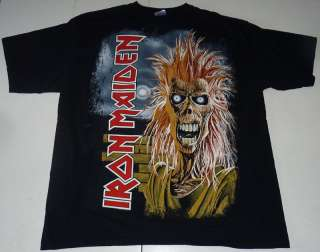VINTAGE IRON MAIDEN HUGE GRAPHICS BAND T SHIRT XL