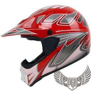 MX ATV Dirt Bike Off Road Helmet (XX Large, X Red Pink) Automotive