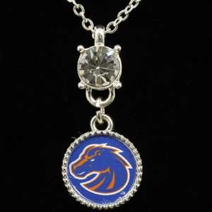 NCAA Boise State Broncos Ladies Crystal Stud Necklace