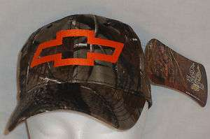 Embroidered Camouflage Florescent Orange CHEVY Ball Cap Trucker Hat