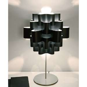 Black sun carbon table lamp