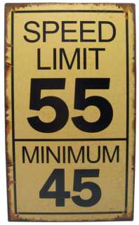 Novelty Speed Limit Metal Sign   KS00086