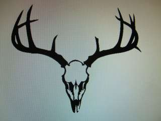 Deer Skull Buck head decal sticker car window 15 x 13