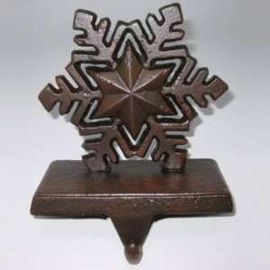 Home 2pk Metal Stocking Holder   Rustic Snowflake