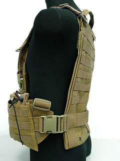 SWAT Molle Hydration Combat Carrier Vest Coyote Brown