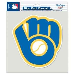MILWAUKEE BREWERS 8X8 OFFICIAL LOGO DIE CUT DECAL