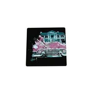 Elvis Presley Square Ceramic Wall Clock Cadillac Pink Car