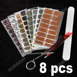 DIY Nail Foil Nail Art Decal Sticker Patch Nail Wraps for Fingers Toes