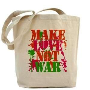 Tote Bag Make Love Not War Peace Symbol Sign