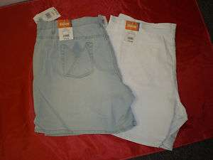 Wholesale Lot (18) Pair of NWT Womens Plus Size Shorts, Bleached or